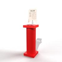 eco-me-colonnina-dispenser-fori-rosso-lampone-stampack